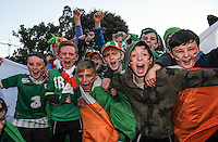 06/10/2016; 2018 FIFA World Cup Qualifier Republic of Ireland vs Georgia; Aviva Stadium, Dublin<br /> Ireland fans from St Brendan's National School, Birr, Co Offaly before the game.<br /> Photo Credit: actionshots.ie/Tommy Grealy