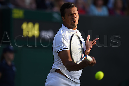 02.07.2016. All England Lawn Tennis and Croquet Club, London, England. The Wimbledon Tennis Championships Day Six.  Jo Wilfried Tsonga (fra)