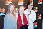 Genoveva Casanova (L), the vice president of the foundation Ana Ferrer (C) and Raquel Sanchez-Silva during the photocall of the 20th anniversary of the Vicente Ferrer Foundation in Madrid. May 24, 2016. (ALTERPHOTOS/Borja B.Hojas)