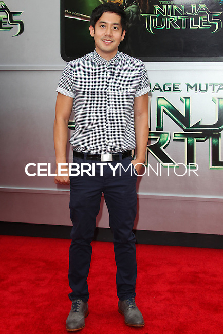 WESTWOOD, LOS ANGELES, CA, USA - AUGUST 03: Allen Evangelista at the Los Angeles Premiere Of Paramount Pictures' 'Teenage Mutant Ninja Turtles' held at Regency Village Theatre on August 3, 2014 in Westwood, Los Angeles, California, United States. (Photo by Celebrity Monitor)