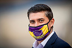 """AUG 01: TVG's Joaquin Jaime before the Bing Crosby Stakes, a Breeders' Cup """"Win and You're In"""" event, at Del Mar Thoroughbred Club in Del Mar, California on August 01, 2020. Evers/Eclipse Sportswire/CSM"""
