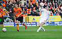 Aberdeen's Scott Vernon wastes a chance as his shot goes straight to the keeper  ...