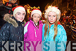Delighted with the Christmas lights in Killarney on Friday night were Margaret Toner, Ciara Payne and Eleanor Mullin.