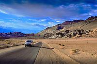 Death Valley National Park, Artists Palette, Road,   Vista, Amargosa Range, DVNP; Desert; Great Basin; California