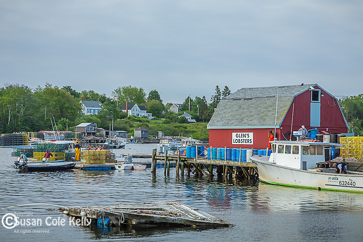 The fishing village at Mackerel Cove in Harpswell, Maine, USA
