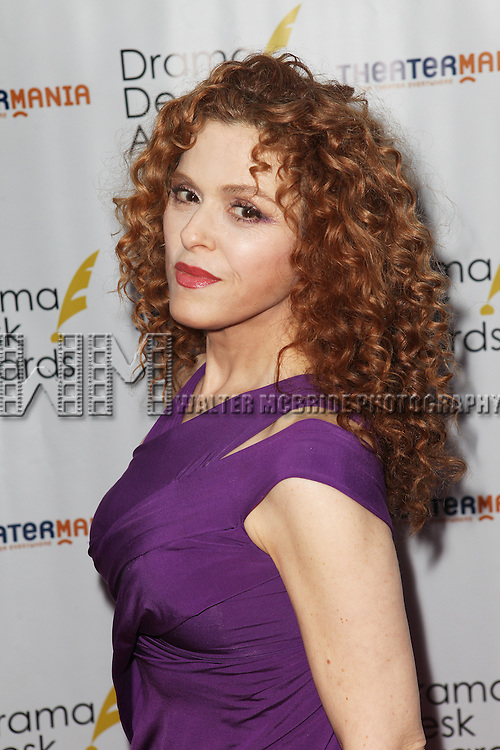Bernadette Peters pictured at the 57th Annual Drama Desk Awards held at the The Town Hall in New York City, NY on June 3, 2012. © Walter McBride