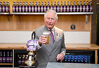 05 April 2019 - Prince Charles, Prince of Wales prepares to try a pint of Tribute during an official visit to St Austell Brewery in St Austell, Cornwall. Photo Credit: ALPR/AdMedia