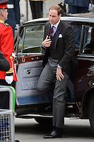 LONDRES, INGLATERRA, 05 DE JUNHO 2012 - JUBILEU DE DIAMANTE DA RAINHA ELIZABETH - O principe William chega a Catedral de Sao Paulo durante o Jubileu de Diamante da Rainha Elizabeth em Londres capital do Reino Unido, nesta terça-feira, 05. (FOTO: BILLY CHAPPEL / ALFAQUI / BRAZIL PHOTO PRESS)