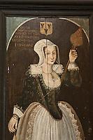 Europe/France/Aquitaine/24/Dordogne/Jumilhac-le-Grand: Château de Jumilhac - Chambre de la Fileuse, Louise de Hautefort, incarcérée pendant 30 ans dans le donjon féodal.- Détail