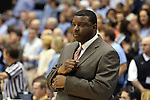 31 December 2013: UNCW assistant coach Andre Gray. The University of North Carolina Tar Heels played the UNC Wilmington Seahawks at the Dean E. Smith Center in Chapel Hill, North Carolina in a 2013-14 NCAA Division I Men's Basketball game. UNC won the game 84-51.