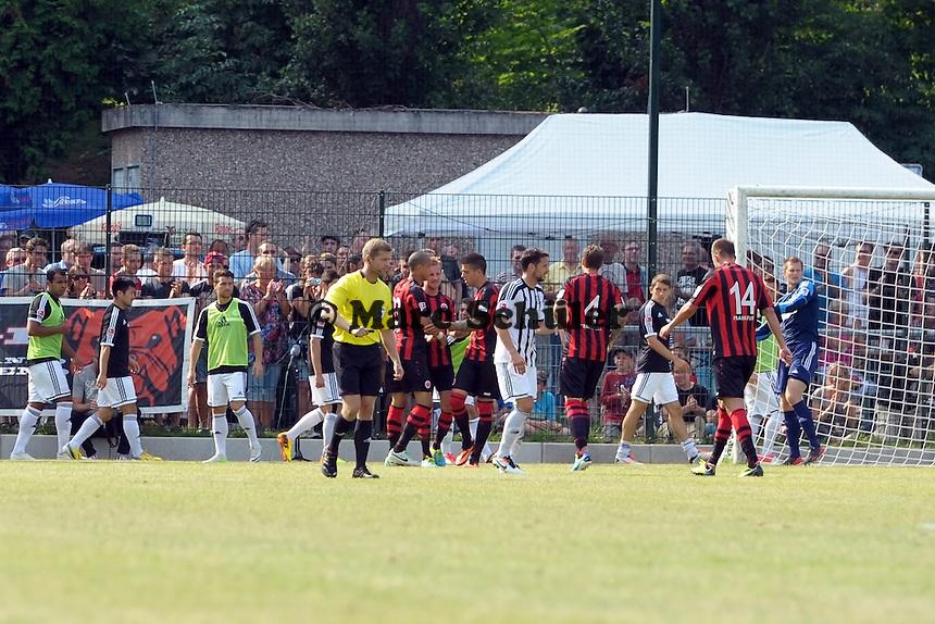 Torjubel beim 1:1 um Stefan Aigner - Eintracht Frankfurt vs. VfR Aalen