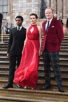 "Kedar Williams-Stirling, Emma Mackey and Alistair Petrie<br /> arriving for the world premiere of ""Our Planet"" at the Natural History Museum, London<br /> <br /> ©Ash Knotek  D3491  04/04/2019"