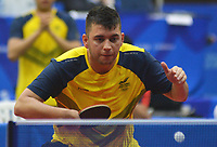 BARRANQUILLA - COLOMBIA, 20-07-2018: Joaquin Villegas de Colombia durante su participación en la categoría de tenis de mesa como parte de los Juegos Centroamericanos y del Caribe Barranquilla 2018. /  Joaquin Villegas of Colombia during his participation in the Table Tennis category of the Central American and Caribbean Sports Games Barranquilla 2018. Photo: VizzorImage / Alfonso Cervantes / Cont