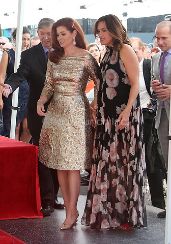 HOLLYWOOD, CA - October 06: Debra Messing, Mariska Hargitay, At Debra Messing Honored With Star On The Hollywood Walk Of Fame At On The Hollywood Walk Of Fame In California on September 06, 2017. Credit: FayeS/MediaPunch