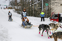 XX on Cordova St. hill during the Anchorage start day of  Iditarod 2018<br /> <br /> Photo by Trent Grasse /SchultzPhoto.com  (C) 2018  ALL RIGHTS RESERVED