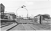View from the roundhouse of the D&amp;RGW Alamosa turntable and vicinity.<br /> D&amp;RGW  Alamosa, CO  Taken by Morse, Ron