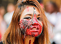 Zombie Walk Seoul, Oct 17, 2015 : A woman attends Zombie Walk Seoul in central Seoul, South Korea. (Photo by Lee Jae-Won/AFLO) (SOUTH KOREA)