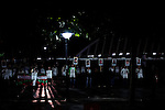 """Euskal preso eta iheslari politikoeen enkartelada Itsasaurre plazan. Ondarrun (Euskal Herri), 2013ko Urriaren 11an. Marabilli sormen festibala"""" Aitzol Aramaio zenaren indarrarekin jaiotako egitasmo bat da eta helburua da hainbat artista Ondarroan biltzea, idazleak, musikariak, zinegileak, antzerkilariak, artista plastikoak, diseinatzaileak...  (Josu Trueba Leiva/ Bostok Photo)"""
