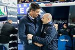 CD Leganes's coach Mauricio Pellegrino and Levante UD's coach Paco Lopez during La Liga match between CD Leganes and Levante UD at Butarque Stadium in Leganes, Spain. March 04, 2019. (ALTERPHOTOS/A. Perez Meca)