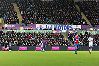 Peter Lynn and Partners LED advertisement during the Premier League match between Swansea City and Crystal Palace at The Liberty Stadium, Swansea, Wales, UK. Saturday 23 December 2017
