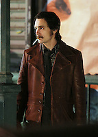 WWW.ACEPIXS.COM<br /> <br /> October 4 2015, New York City<br /> <br /> Actor James Franco was on the Uptown Manhattan set of the new movie 'Deuce' on November 4 2015 in New York City<br /> <br /> By Line: Philip Vaughan/ACE Pictures<br /> <br /> ACE Pictures, Inc.<br /> tel: 646 769 0430<br /> Email: info@acepixs.com<br /> www.acepixs.com