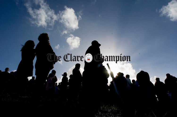 The October sun shines through during the annual Kilmaley Meitheal sponsored Walk Mass and blessing of the new graveyard. Photograph by John Kelly.