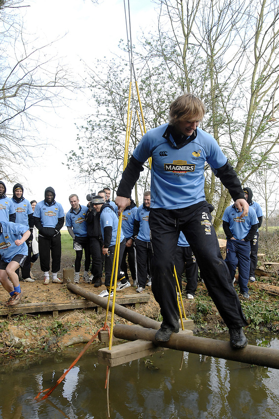 Photo: Richard Lane..Photoshoot of London Wasps taking part on a Magners Assault Course at Harrow School. 20/03/2007. .Martin Purdy.