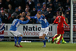 Kevin Holt celebrates his goal for QOS
