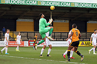 Aaron Chapman of Accrington Stanley takes the aerial ball during Cambridge United vs Accrington Stanley, Sky Bet EFL League 2 Football at the Cambs Glass Stadium on 11th November 2017