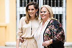 """Maria Leon and his mother Carmina Barrios during the presentation of the second season of the """"Alli Abajo"""" serie of Atresmedia in Sevilla, Spain. February 09, 2016. (ALTERPHOTOS/ BorjaB.Hojas)"""