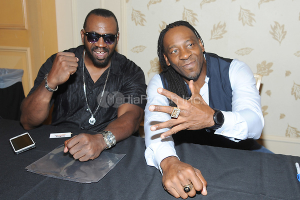 LAS VEGAS, NV - MAY 02: Stevie Ray and Booker T at the 53rd Cauliflower Alley Club Reunion Convention at the Gold Coast Hotel & Casino in Las Vegas, Nevada on May 2, 2018. Credit: George Napolitano/MediaPunch