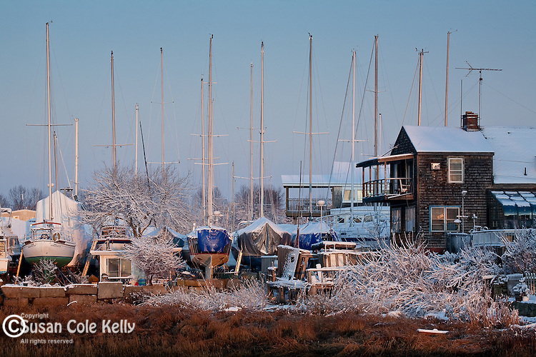 Winter sunrise in Newburyport, MA, USA