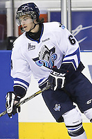 QMJHL (LHJMQ) hockey profile photo on Rimouski Oceanic Maxime Gravel October 6, 2012 at the Colisee Pepsi in Quebec city.