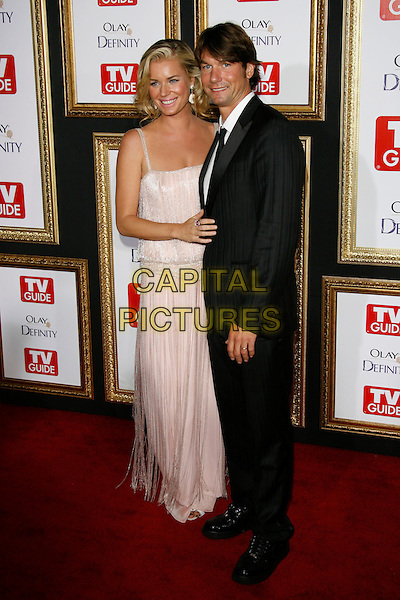 REBECCA ROMIJN & JERRY O'CONNELL.59th Annual Primetime Emmy Awards - TV Guide After Party 2007 held at Les Deux, Hollywood, California, USA..September 16th, 2007.full length dress pink tassels black suit couple.CAP/ADM/ZL.©Zach Lipp/AdMedia/Capital Pictures.