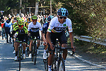 Egan Bernal (COL) Team Sky ahead of Esteban Chaves (COL) and Adam Yates (GBR) Mitchelton-Scott near the end of Stage 4 of the Volta Ciclista a Catalunya 2019 running 150.3km from Llanars (Vall De Camprodon) to La Molina (Alp), Spain. 28th March 2019.<br /> Picture: Colin Flockton | Cyclefile<br /> <br /> <br /> All photos usage must carry mandatory copyright credit (© Cyclefile | Colin Flockton)