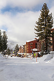 USA, California, Mammoth, the resort at Mammoth Lakes covered in fresh snow