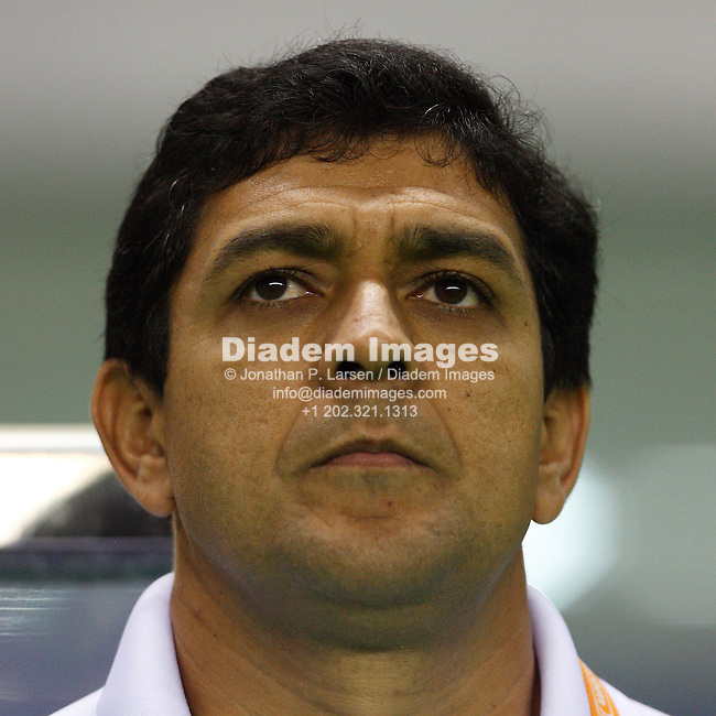 SHANGHAI - SEPTEMBER 30:  Brazil head coach Jorge Barcellos seen prior to the start of the FIFA Women's World Cup soccer final against Germany September 30, 2007 in Shanghai, China.  (Photograph by Jonathan P. Larsen)