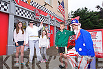 John Duggan, Doon, Tralee celebrating his 10th Birthday at M.J.'s Diner on July 4th American Independence Day.  Catherine Duggan, Brid Duggan, John Duggan, Chris Tansley as Elvis, Paul Barker as Uncle Sam and Santa Liberte