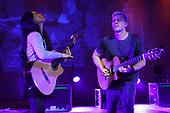 MIAMI BEACH, FL - NOVEMBER 25: Gabriela Quintero and Rodrigo Sanchez of Rodrigo y Gabriela perform at the Fillmore on November 25, 2017 in Miami Beach, Florida. Credit Larry Marano © 2017