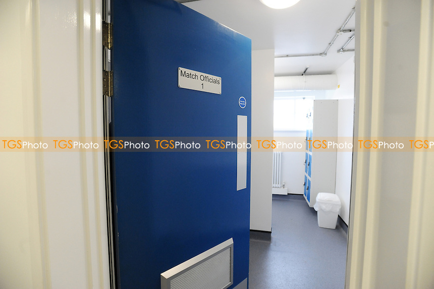Match official's room - Enfield Town vs Tottenham Hotspur XI - A match to celebrate the official opening of Enfield Town Football Club's new ground, The Queen Elizabeth Stadium - 16/11/11- MANDATORY CREDIT: Anne-Marie Sanderson/TGSPHOTO - Self billing applies where appropriate - 0845 094 6026 - contact@tgsphoto.co.uk - NO UNPAID USE.