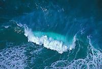 crashing wave off Na Pali coast from Kalalau trail