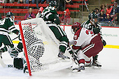 Rick Pinkston (Dartmouth - 7), Brian Hart (Harvard - 39), Andy Simpson (Dartmouth - 24) - The Harvard University Crimson tied the visiting Dartmouth College Big Green 3-3 in both team's first game of the season on Saturday, November 1, 2014, at Bright-Landry Hockey Center in Cambridge, Massachusets.