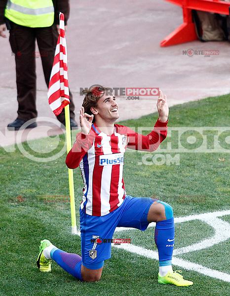 Atletico de Madrid's Antoine Griezmann celebrates goal during La Liga match. March 19,2017. (ALTERPHOTOS/Acero) /NORTEPHOTO.COM