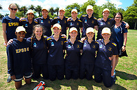 The EGGS team after winning the the New Zealand Secondary Schools 1st XI NZCT girls' cricket national finals match between Tauranga Girls' College and Epsom Girls' Grammar School at Fitzherbert Park in Palmerston North, New Zealand on Sunday, 3 December 2017. Photo: Dave Lintott / lintottphoto.co.nz