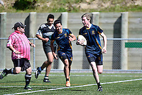 Action from the Rugby League College Finals - Orcas Cup Final Taita College v Upper Hutt College at Te Whaea in Wellington, New Zealand on Saturday 25 October 2014. <br /> Photo by Masanori Udagawa. <br /> www.photowellington.photoshelter.com.