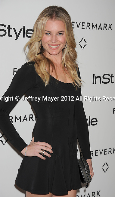 BEVERLY HILLS, CA - JANUARY 10: Rebecca Romijn arrives at the Forevermark And InStyle Golden Globes Event at Beverly Hills Hotel on January 10, 2012 in Beverly Hills, California.