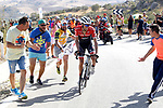 Alberto Contador (ESP) Trek-Segafredo attacks on the final climb of Puerto del Torcal during Stage 12 of the 2017 La Vuelta, running 160.1km from Motril to Antequera Los D&oacute;lmenes, Spain. 31st August 2017.<br /> Picture: Unipublic/&copy;photogomezsport | Cyclefile<br /> <br /> <br /> All photos usage must carry mandatory copyright credit (&copy; Cyclefile | Unipublic/&copy;photogomezsport)