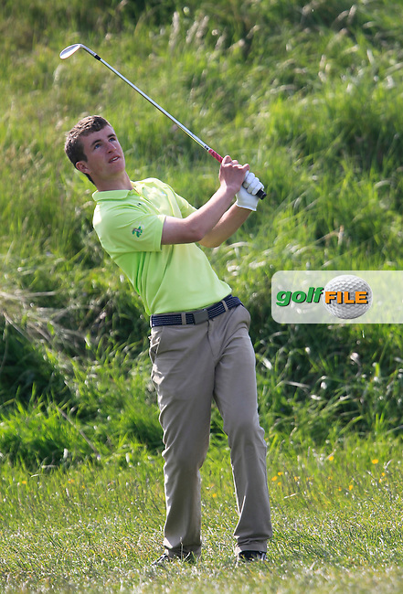 Sean Flanagan (Co. Sligo) on the 15th during the 4th round of the East of Ireland Amateur Open Championship 2013 Co Louth Golf club 3/6/13<br /> Picture:  Thos Caffrey / www.golffile.ie