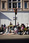 Street seats, Raleigh Christmas Parade, Raleigh, NC, Saturday, November 19, 2011.