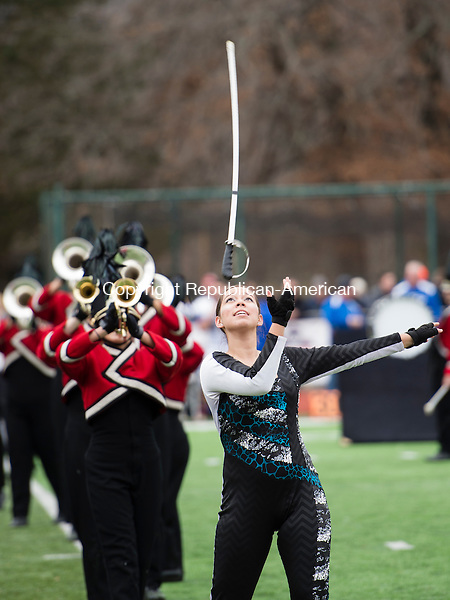 CHESHIRE, CT - 25 November 2015-112615EC11-- Halftime at the Thanksgiving Day game between Cheshire and Southington. Southington won, 36-29. Erin Covey Republican-American.
